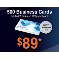 500 x Business Cards - 420gsm - Matt Lamination 1 side