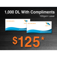 1,000 x DL With Compliment Slips